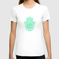 Hamsa  Womens Fitted Tee White SMALL