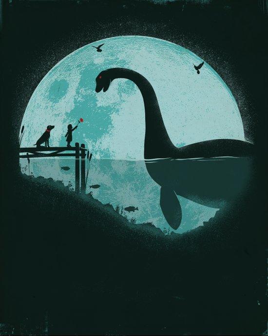 Encounter Under a Blue Moon Canvas Print