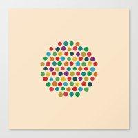 Circles Circle Canvas Print