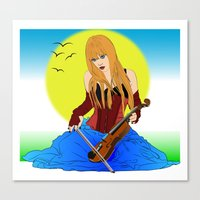 Remembrance Of A Violin Canvas Print