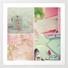 Pink Peppermint Collection Art Print
