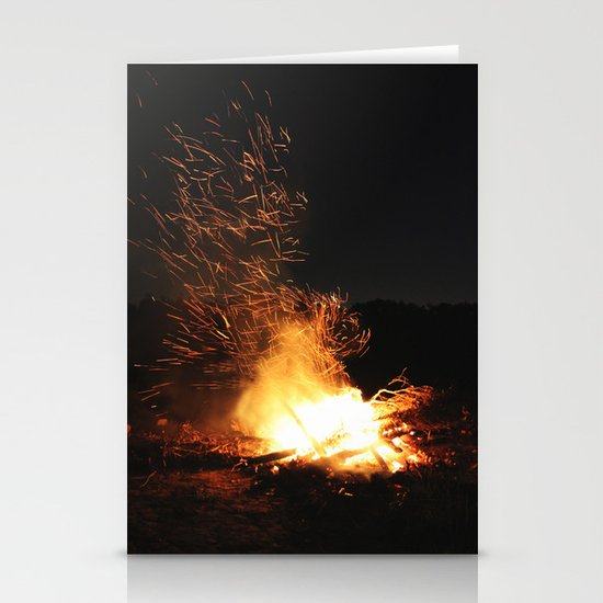 Fire Dance Stationery Card