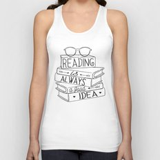 Reading is Always a Good Idea Unisex Tank Top
