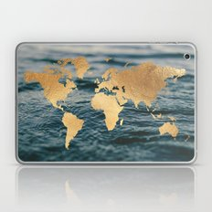 Gold Map in Water Laptop & iPad Skin