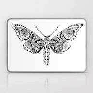 Laptop & iPad Skin featuring Black Butterfly by Julia Badeeva