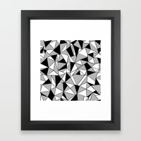 Ab Lines with Black Blocks Framed Art Print