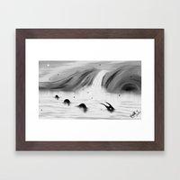 Lake Apparition Framed Art Print