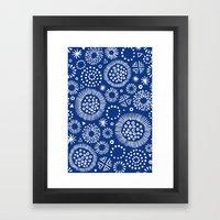 indigo doodles Framed Art Print