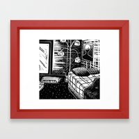 Sunny Vancouver (Combination Cut) Framed Art Print