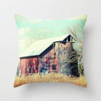 Barn In The Heartland Throw Pillow