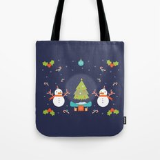 Day 01/25 Advent - Frosty meets his match Tote Bag