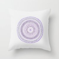 Mandala Smile C Throw Pillow