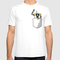 P0ck37 Mens Fitted Tee SMALL White