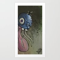 The Jelly-Filled Cranium Fish Art Print