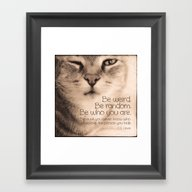 Wise Tabby Cat Framed Art Print