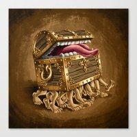 Discworld Luggage Canvas Print