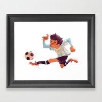 Lionel Messi, Argentina Jersey Framed Art Print