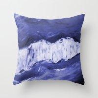 Paint 6 abstract water ocean arctic iceberg nature ocean sea abstract art drip waterfall minimal  Throw Pillow