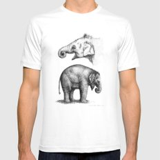 Baby Elephant study G2011-008c Mens Fitted Tee SMALL White