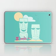 Easter Island Summer Fun Laptop & iPad Skin