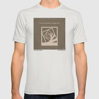 No243 My Memento minimal movie poster Mens Fitted Tee Silver SMALL
