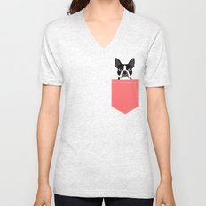 Kennedy - Boston Terrier cute dog themed gifts for small dog owners and Boston Terrier gifts  Unisex V-Neck