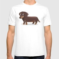Longhaired Dachshund - C… Mens Fitted Tee White SMALL