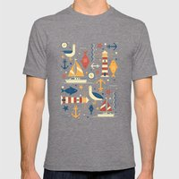 All At Sea Mens Fitted Tee Tri-Grey SMALL