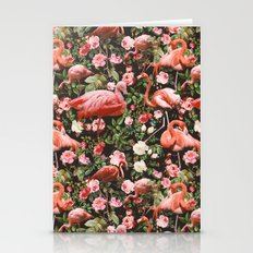 Floral And Flemingo Patt… Stationery Cards
