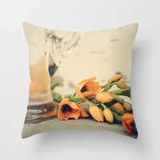 Tulips of orange Throw Pillow