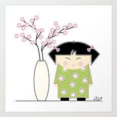 Little Asian Girl Art Print