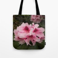 Pink Flowers in Spring Tote Bag