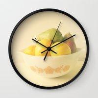 Retro Fruit Wall Clock