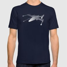 Star Wars X-Wing Mens Fitted Tee Navy SMALL