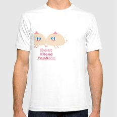 best friend-you and me Mens Fitted Tee SMALL White