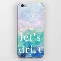 Let's Drift in a Watercolor iPhone & iPod Skin
