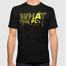 What the Fu Mens Fitted Tee Tri-Black SMALL