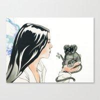 Portrait, Mind Blown Canvas Print