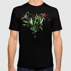 Growth Mens Fitted Tee Black SMALL