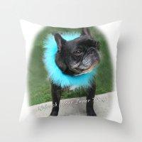 Diva Dog Throw Pillow