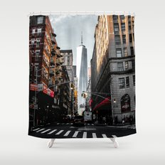 Lower Manhattan One WTC Shower Curtain