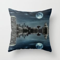 Night in the Reflection Throw Pillow