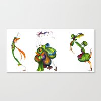 Green Aristocrats Canvas Print