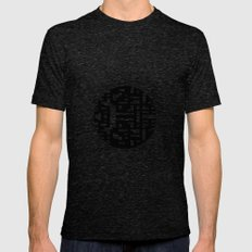 Maze Merge Mens Fitted Tee Tri-Black SMALL