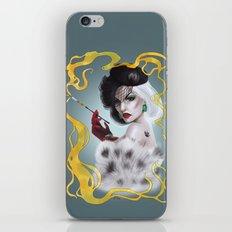 Cruella de Vil iPhone & iPod Skin