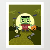 Frankie goes to Halloween Art Print
