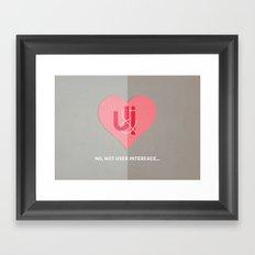 U&I Framed Art Print