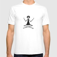 Yoga Mens Fitted Tee White SMALL