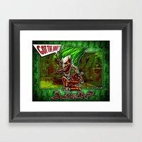 Vampire Joker Concept! Framed Art Print