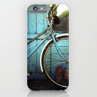 iPhone & iPod Case featuring Bluebell the blue bicycle by James Arnold